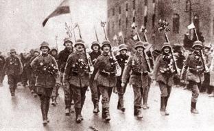 16-12-1918. Η Πρωσσική φρουρά εισέρχεται στο Βερολίνο
